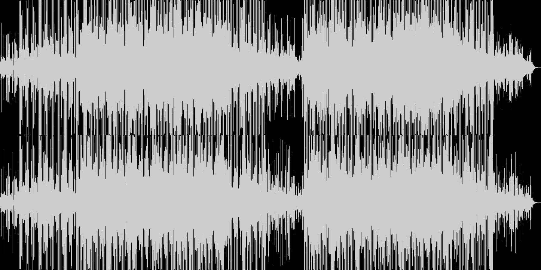 ラテンっぽいポップなシンセミュージックの未再生の波形