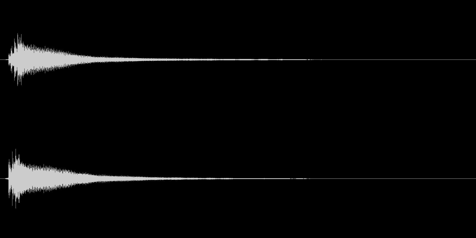 アコギのハーモニクスによるサウンドロゴの未再生の波形