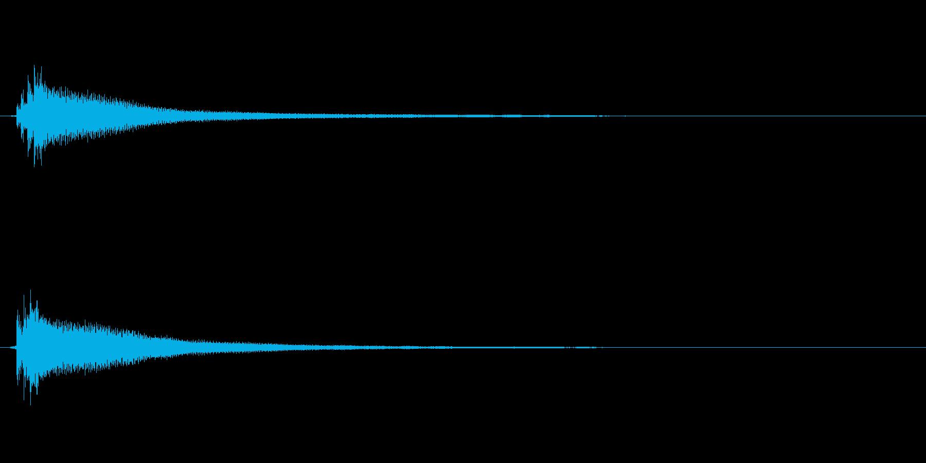 アコギのハーモニクスによるサウンドロゴの再生済みの波形