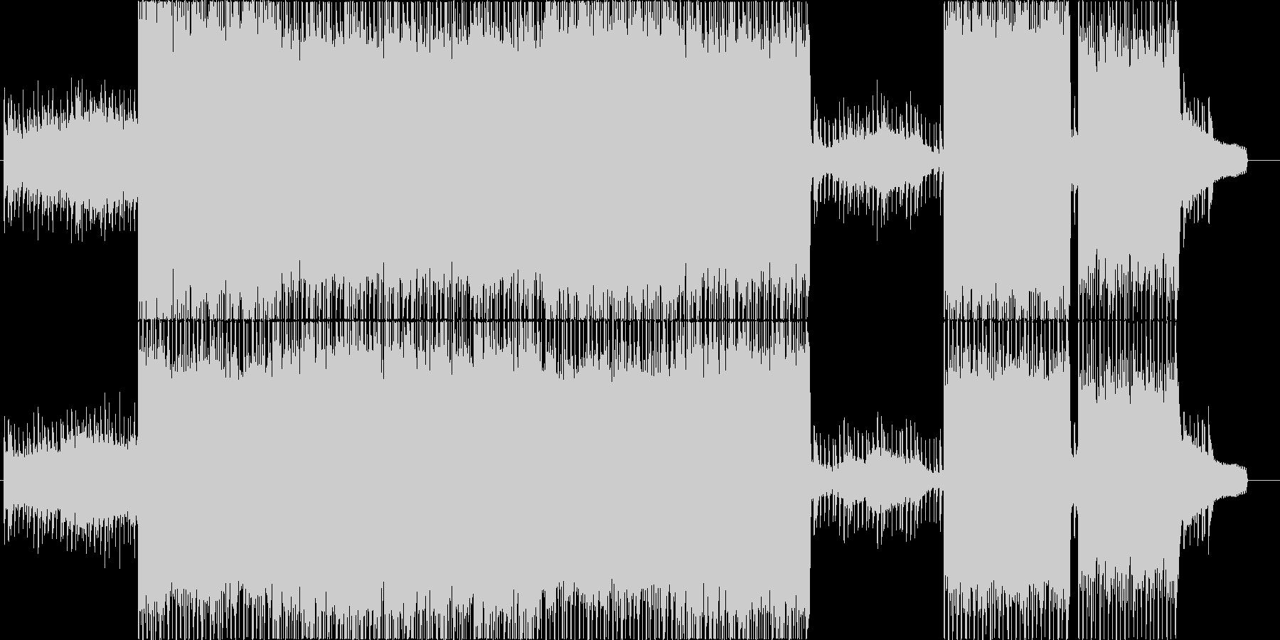 ピアノがメインの力強いロックバラードの未再生の波形