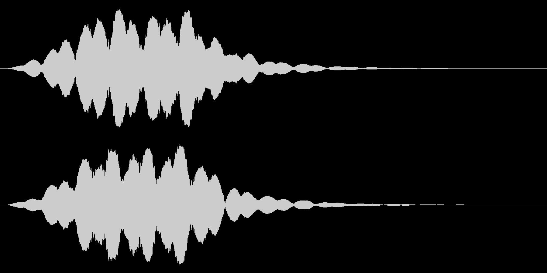 効果音  超能力 サイコメトラーの未再生の波形