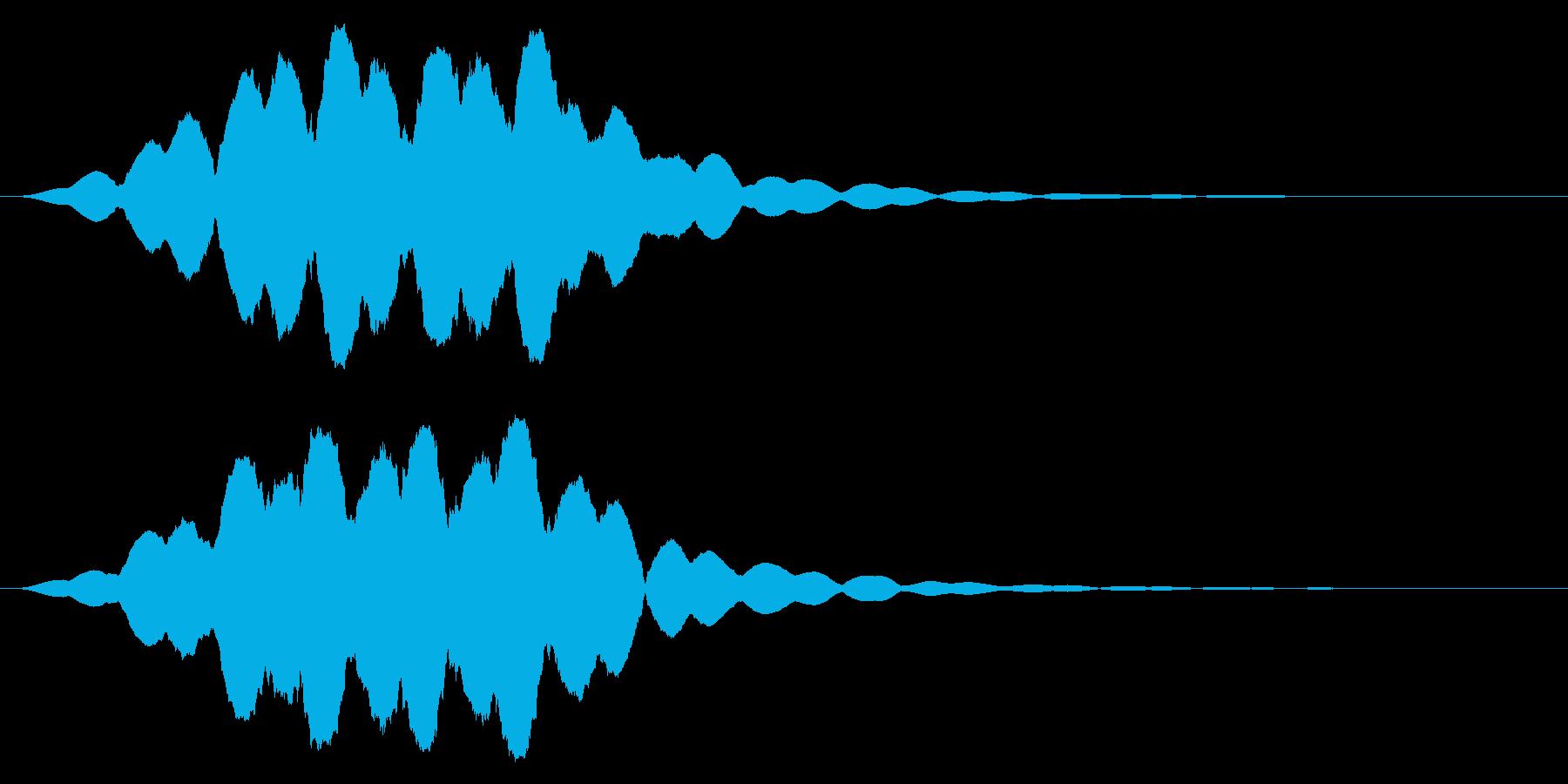 効果音  超能力 サイコメトラーの再生済みの波形