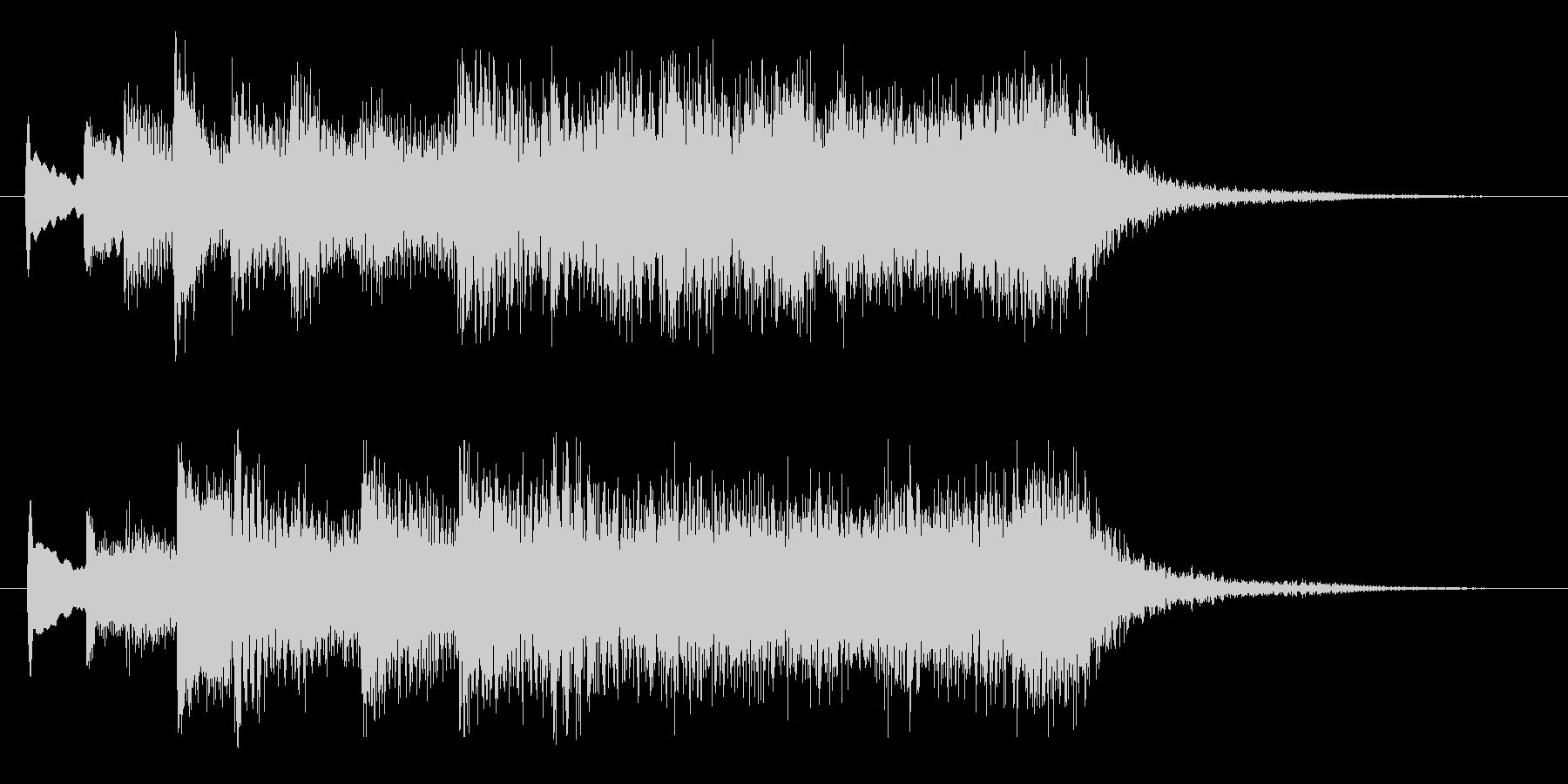 ハープとストリングスのジングル1の未再生の波形