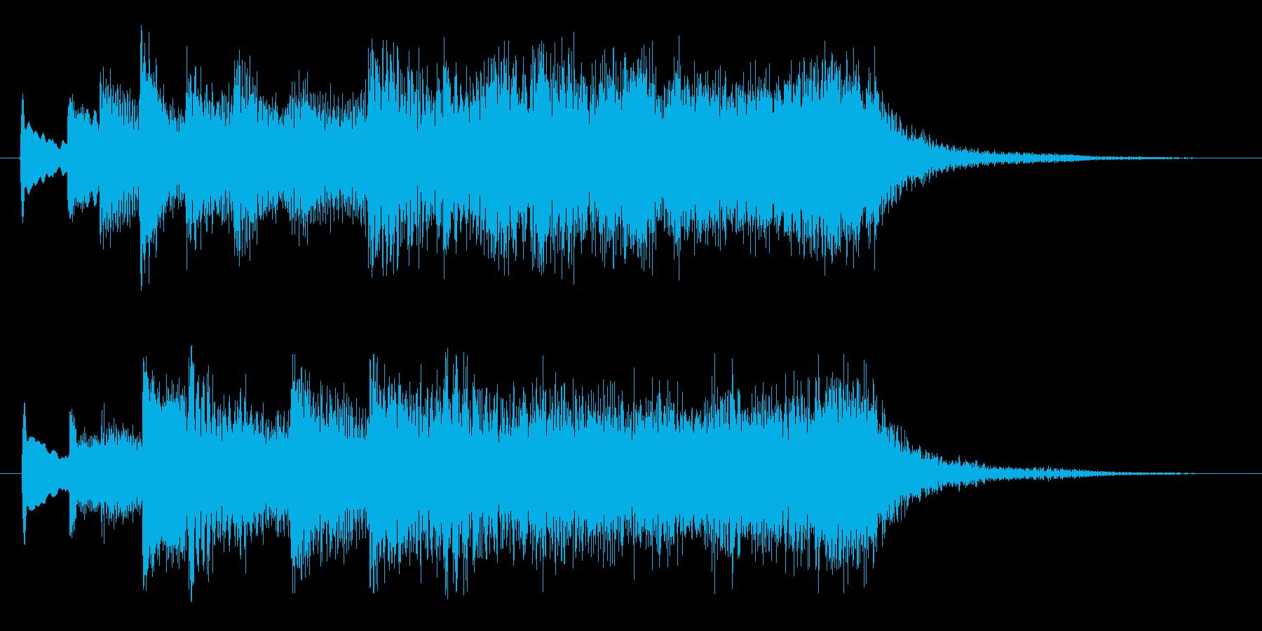 ハープとストリングスのジングル1の再生済みの波形