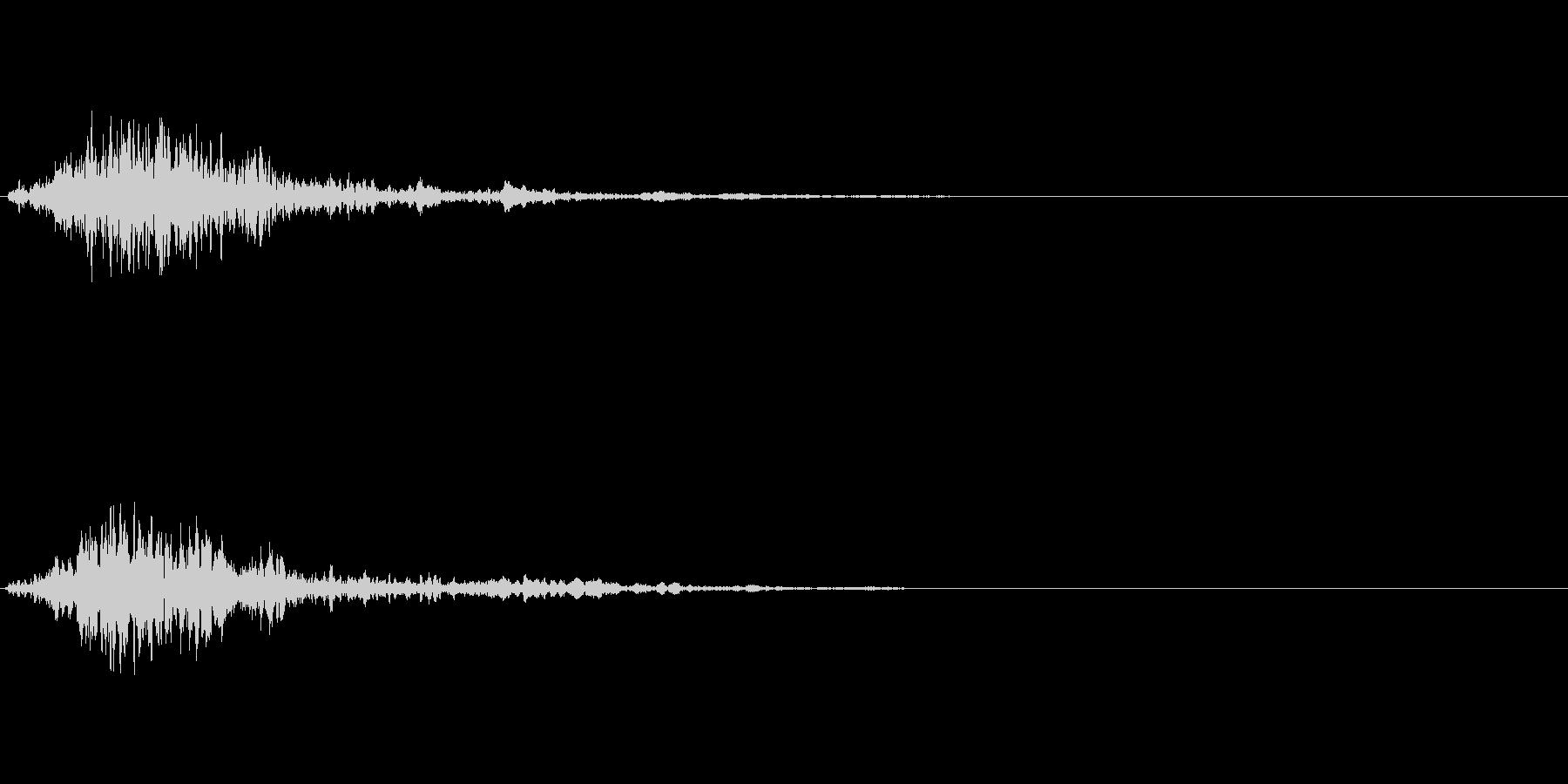 次のステップに進むクリック音4の未再生の波形