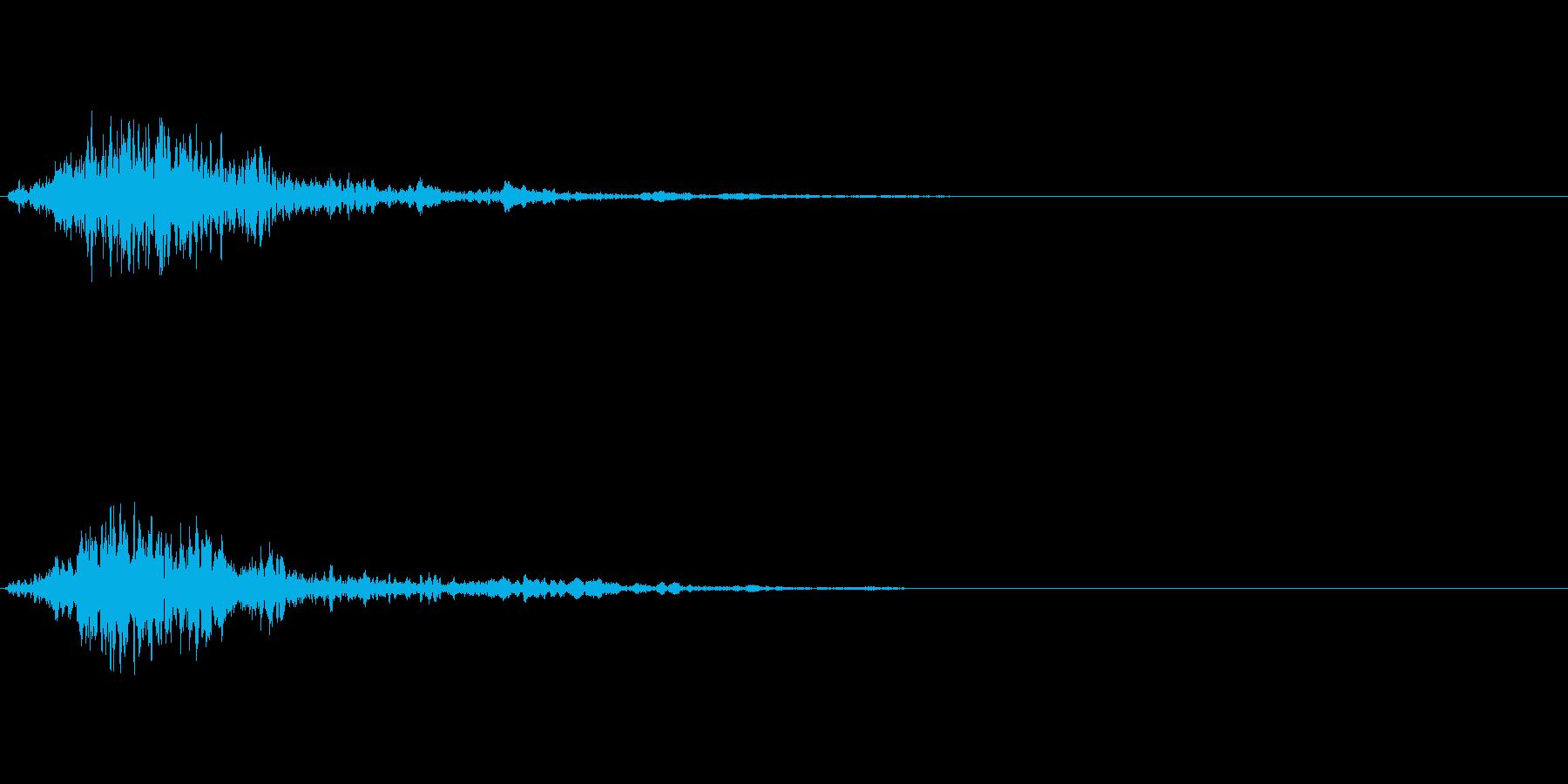 次のステップに進むクリック音4の再生済みの波形