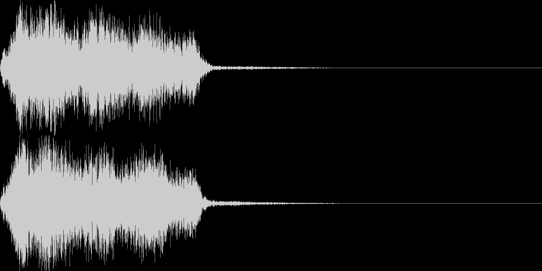 映画向け効果音14の未再生の波形