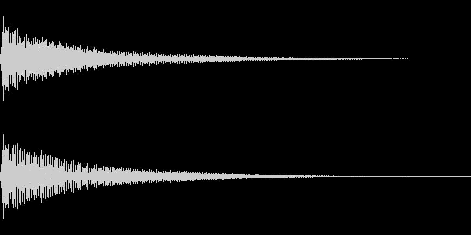 ポーン(注目 決定 カーソル移動)の未再生の波形