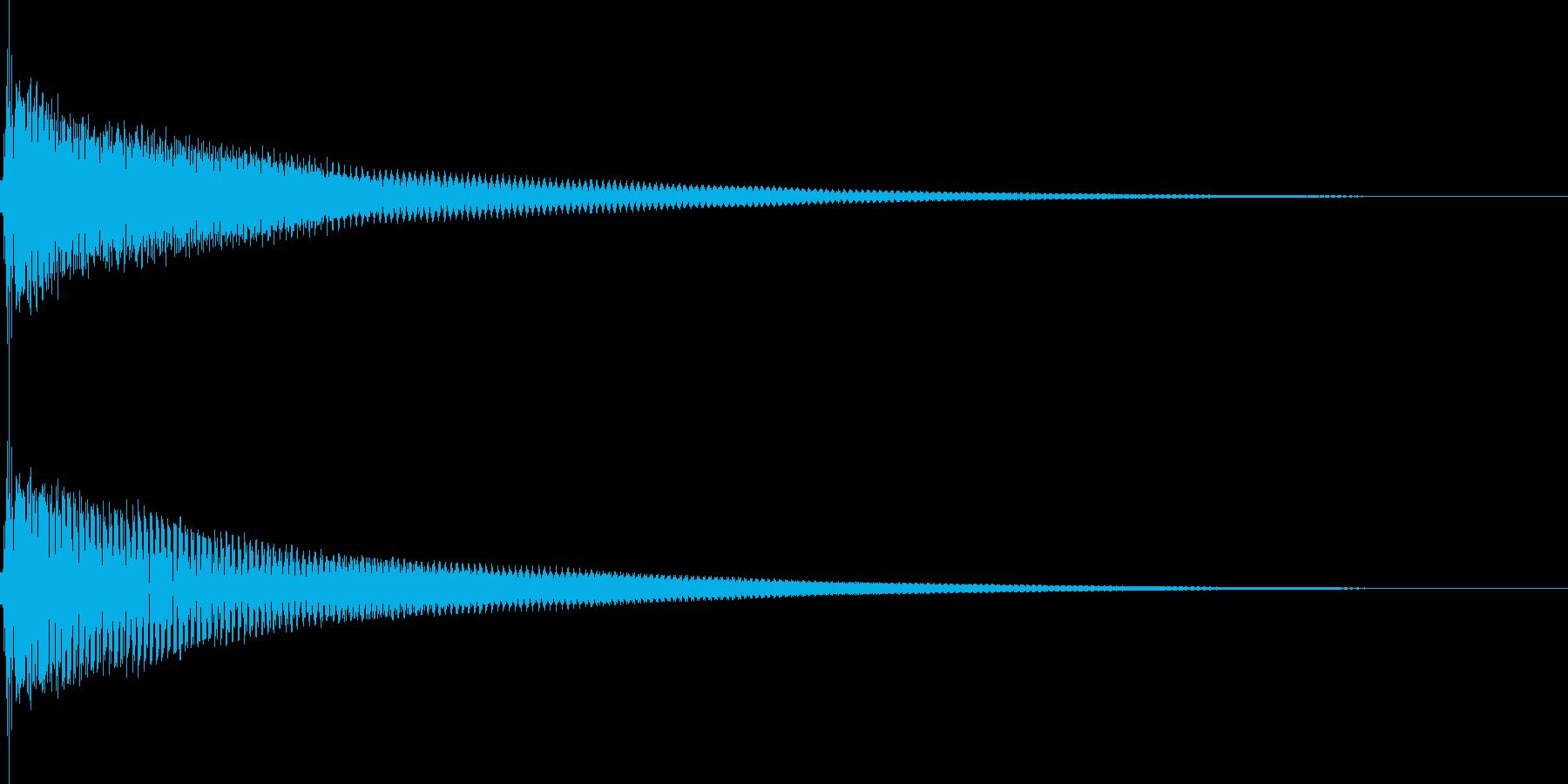 ポーン(注目 決定 カーソル移動)の再生済みの波形