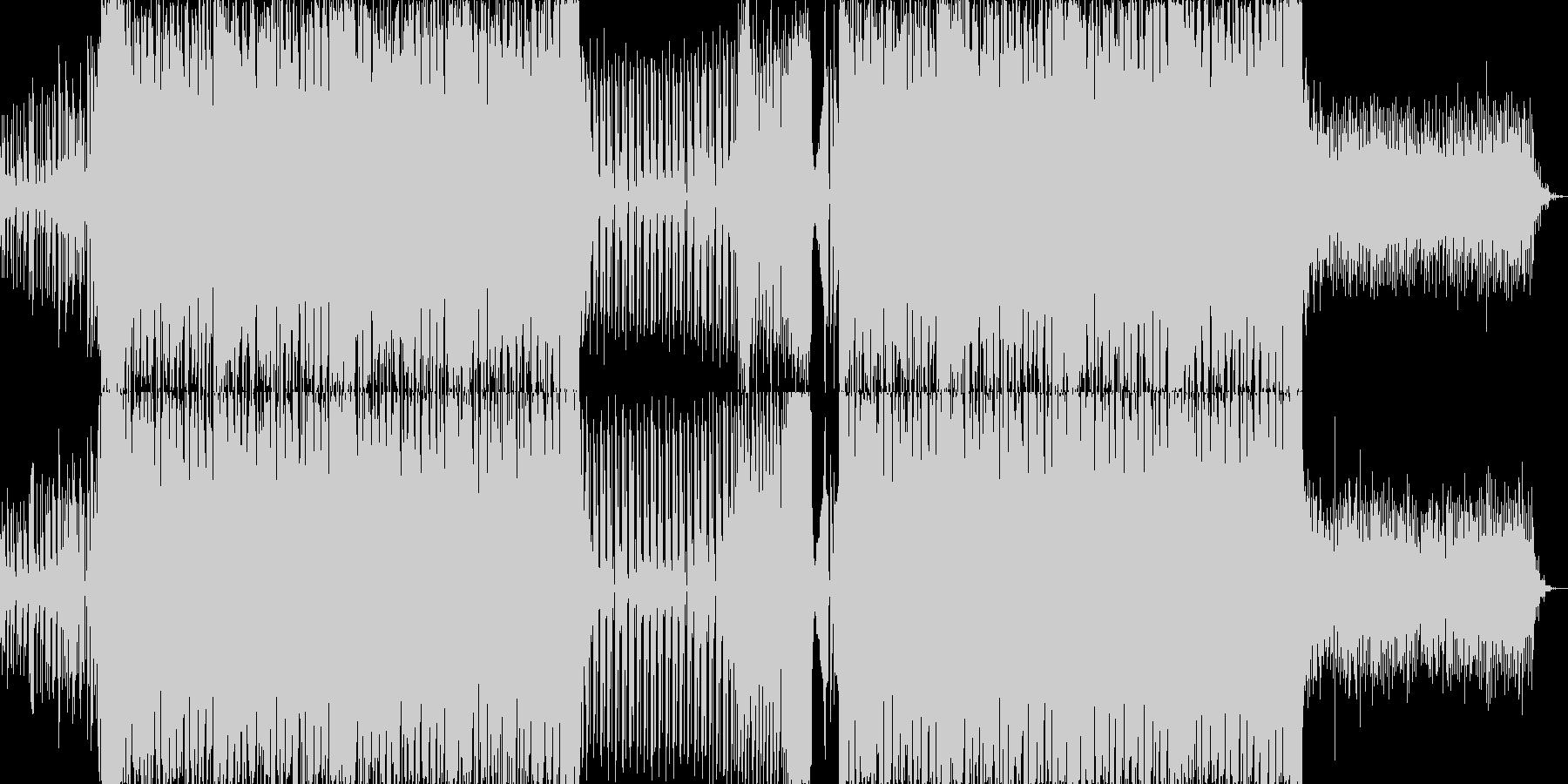 キラキラしたエレクトロダンスミュージックの未再生の波形