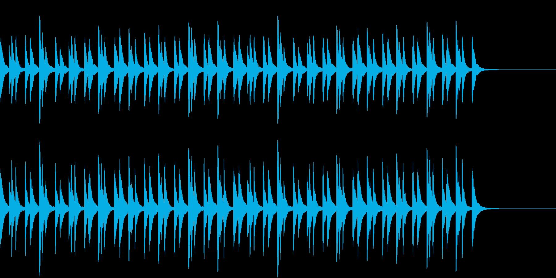 お囃子や祭りの軽快なコンチキのフレーズ音の再生済みの波形