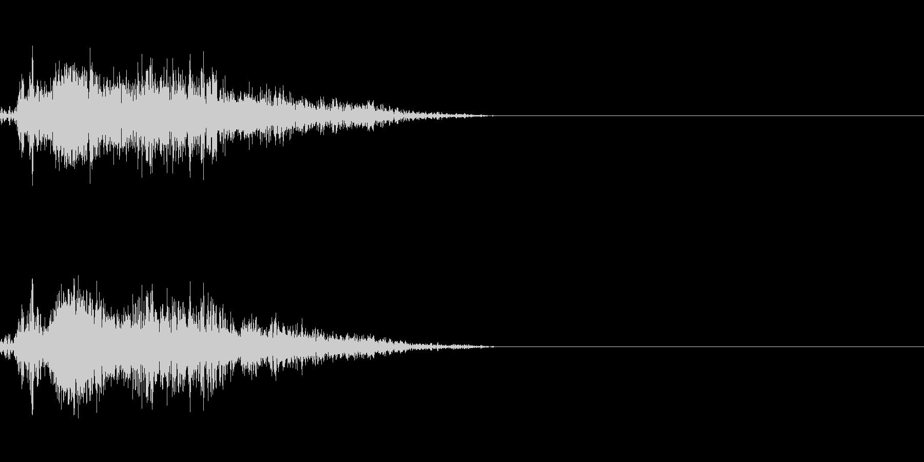 ビーム ワンショット3の未再生の波形
