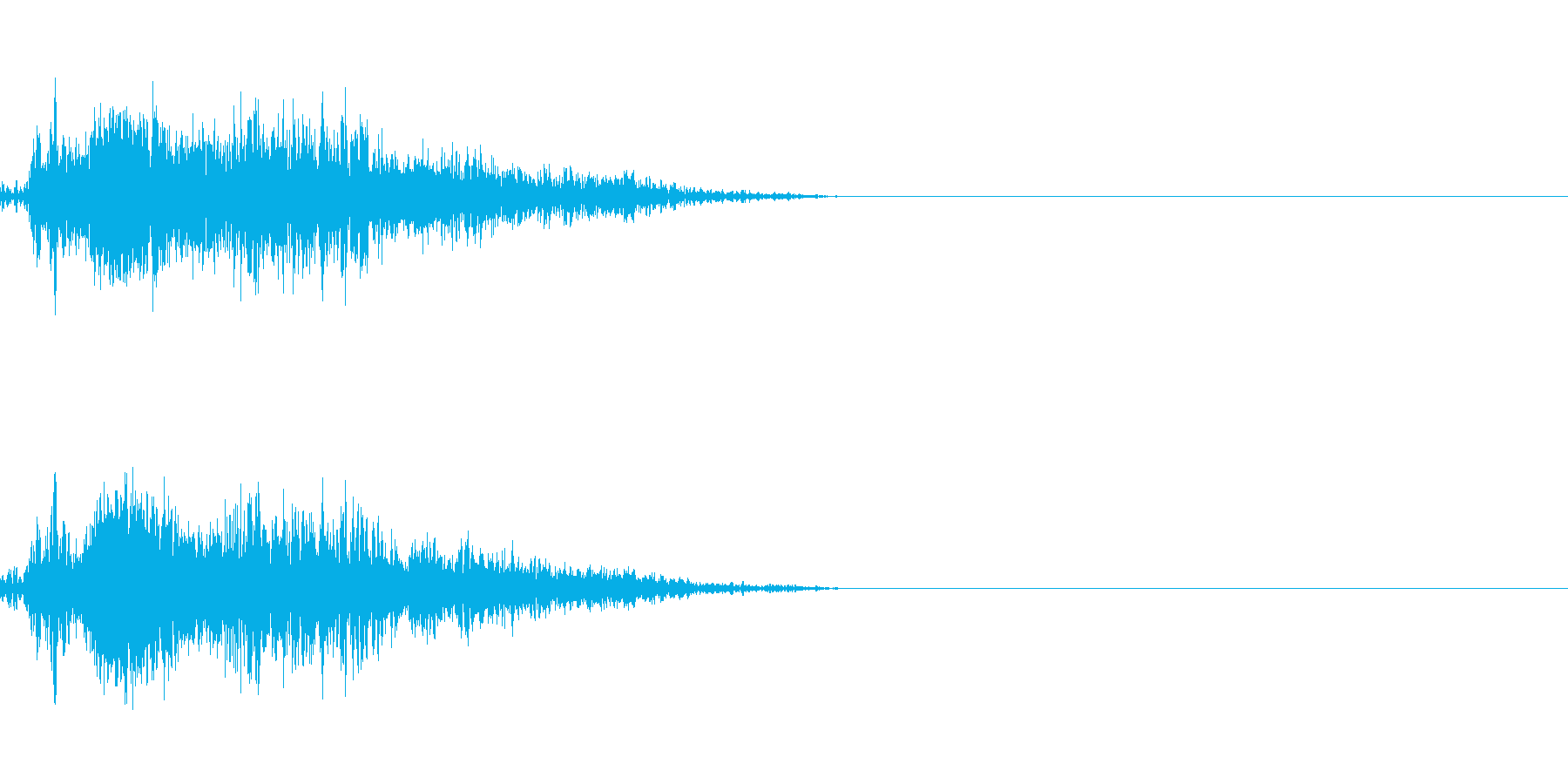 ビーム ワンショット3の再生済みの波形