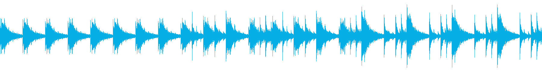 切ないピアノ楽曲3(ループ仕様)の再生済みの波形
