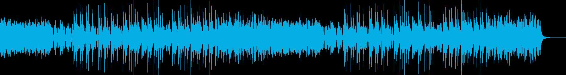 不気味な和風のピアノ曲の再生済みの波形