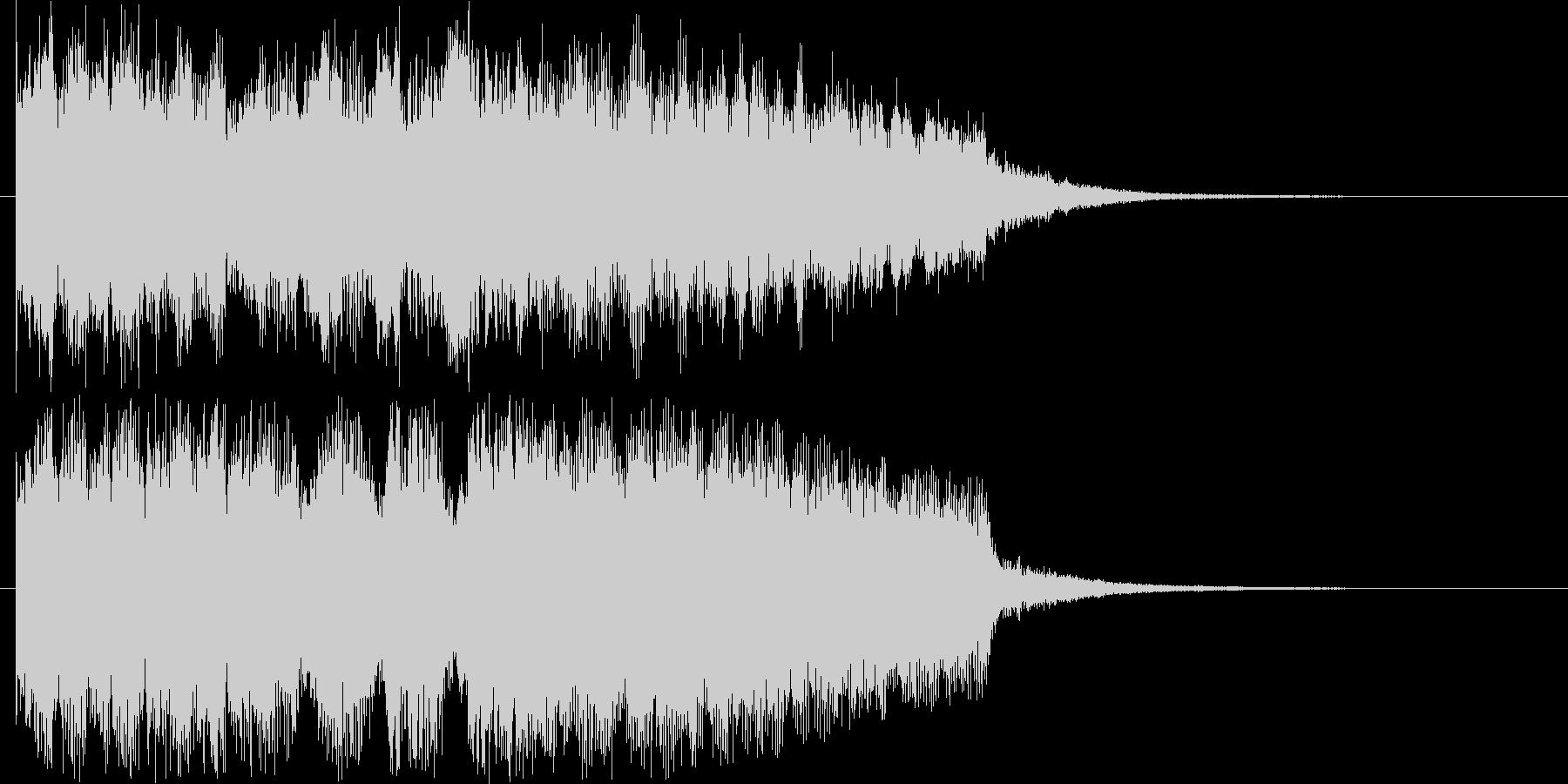 勢いのあるジングル曲の未再生の波形