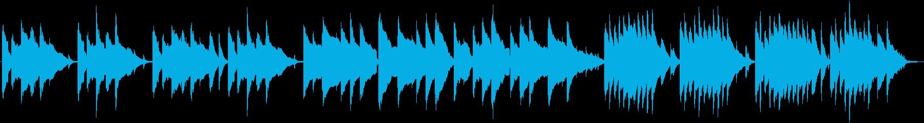 ほのぼのした場面などに使える短い曲の再生済みの波形