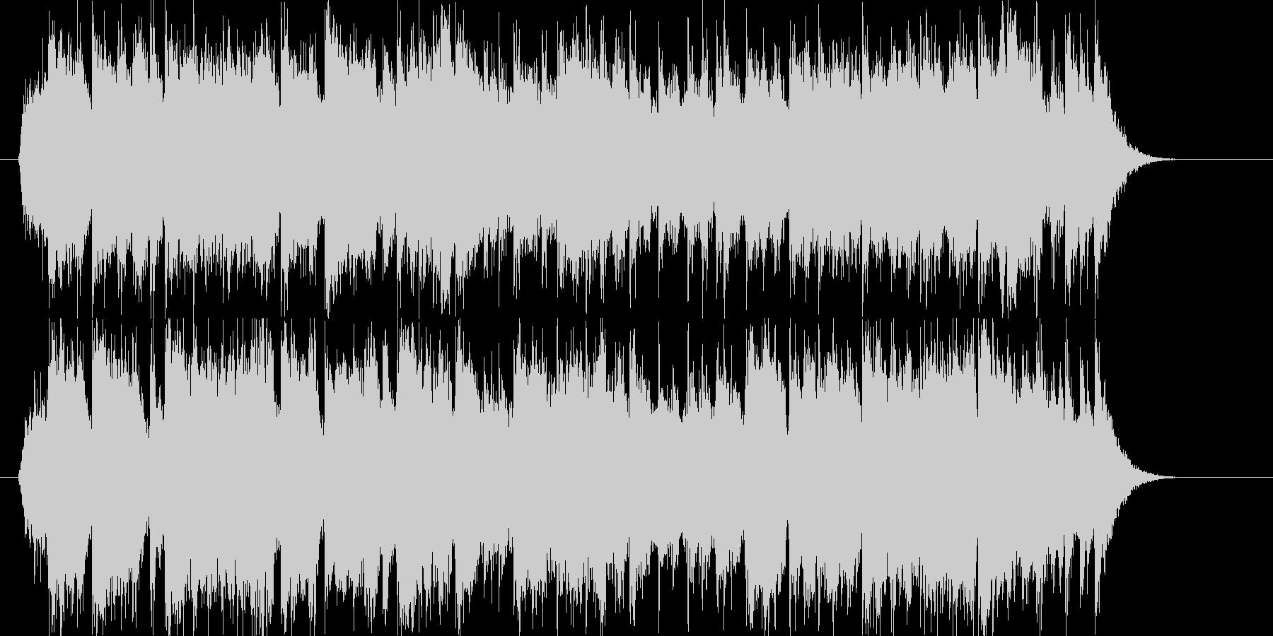 豪華で明るいシンセサイザーサウンドの未再生の波形