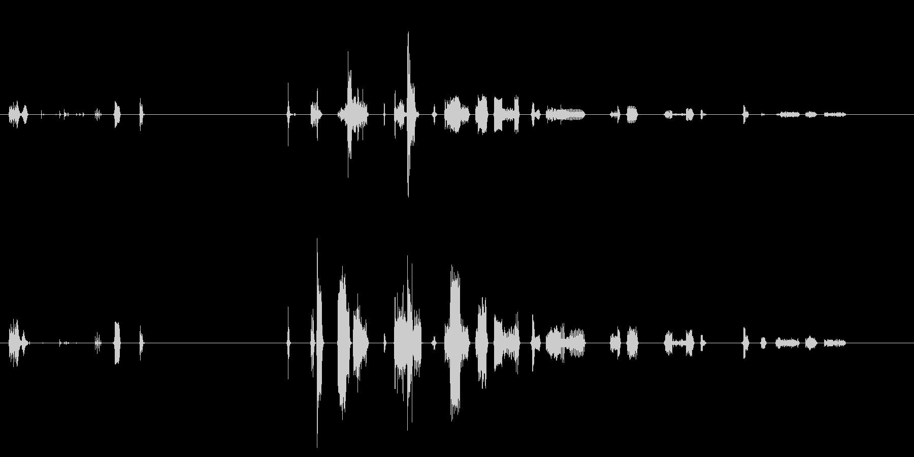 【SE 効果音】機会的なノイズの未再生の波形
