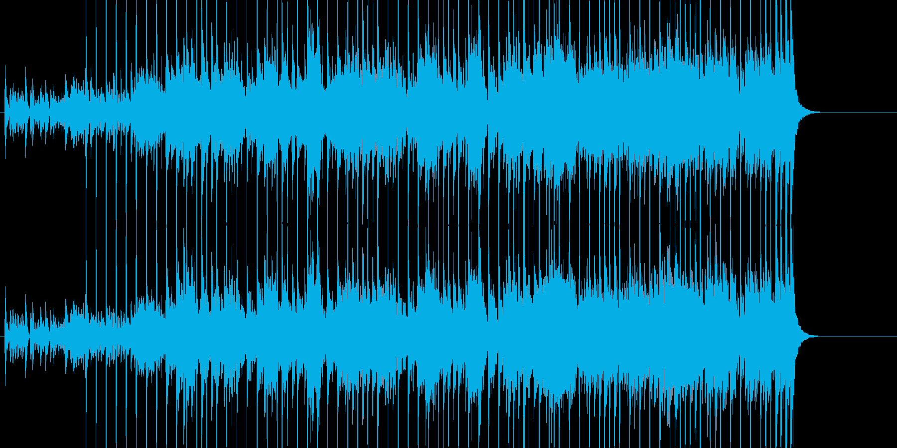 80年代っぽいシンセによるホラーの再生済みの波形