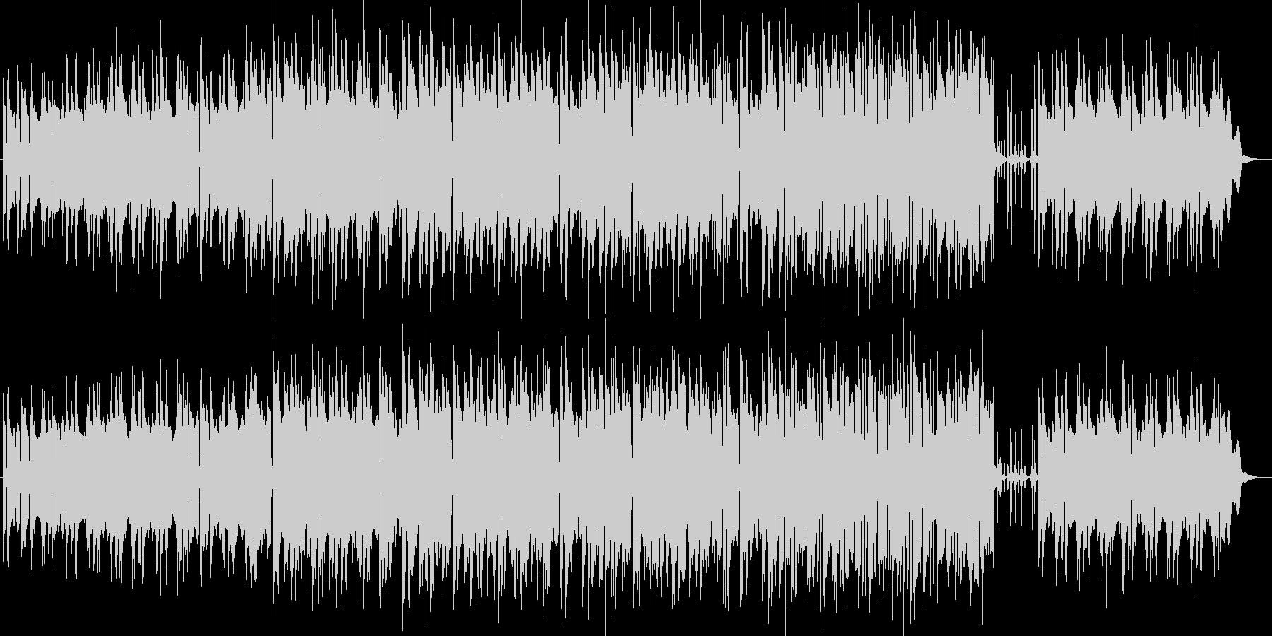 まったりと流れるシンセサイザーサウンドの未再生の波形