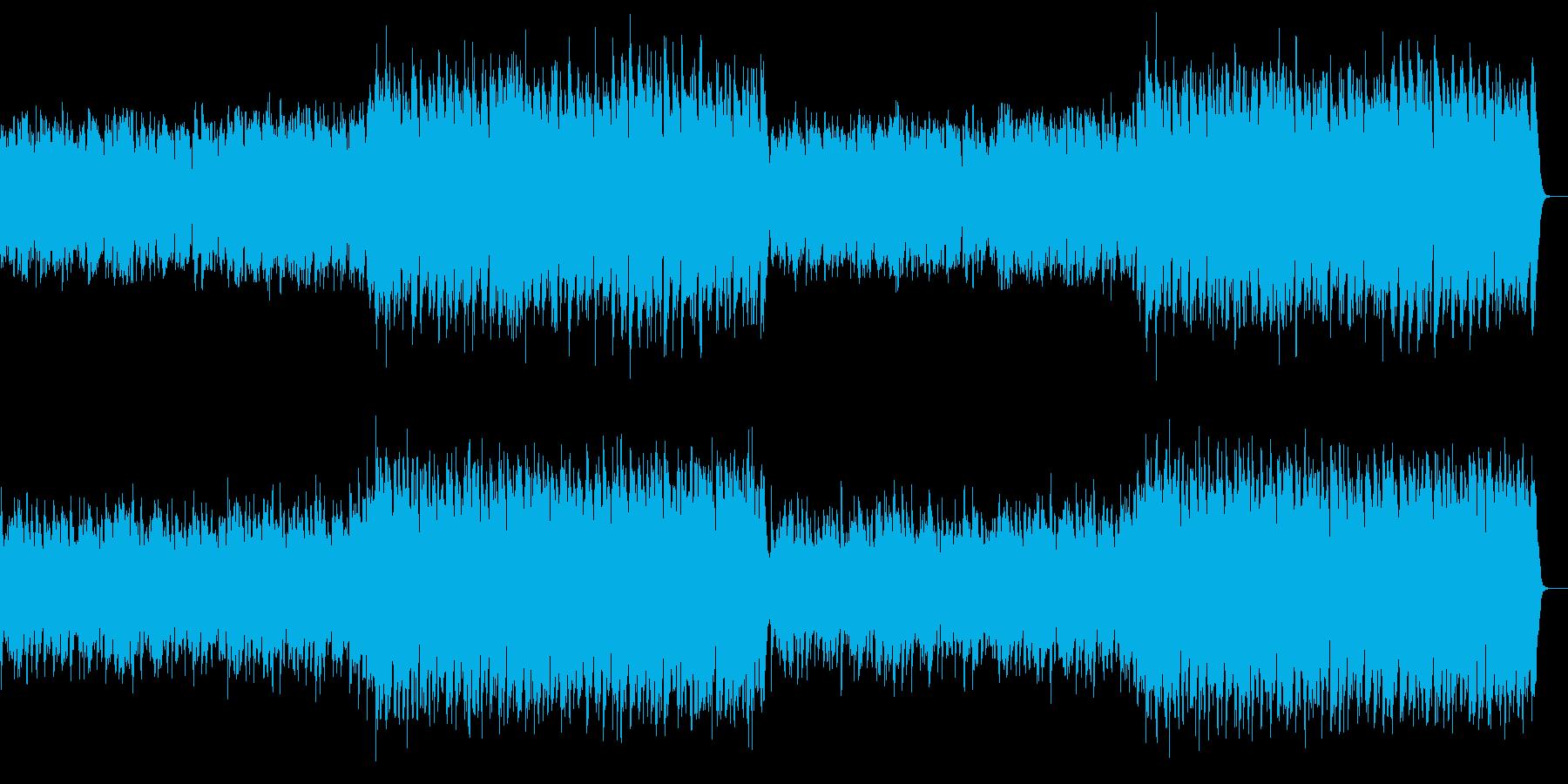 上品で格式の高い英国風の管弦楽の行進曲の再生済みの波形