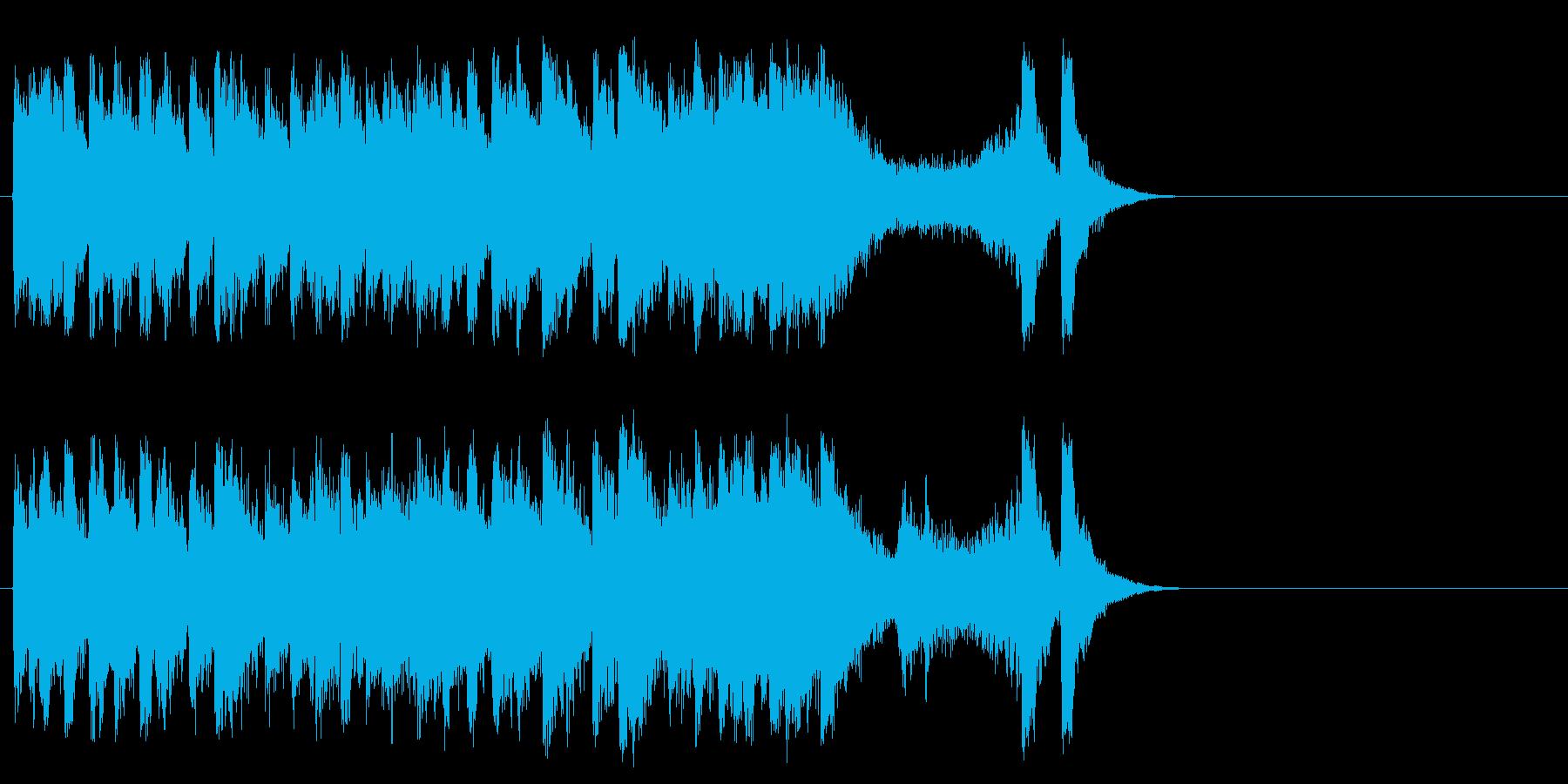 和やかなポップ BGM(サビ)の再生済みの波形