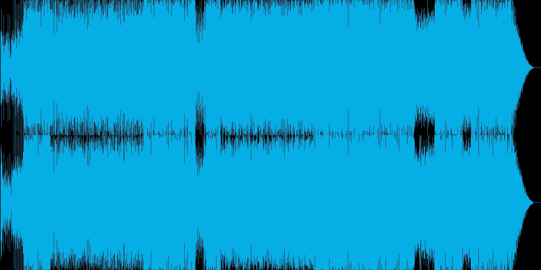 おしゃれで爽やかな曲です。ハウス系の再生済みの波形