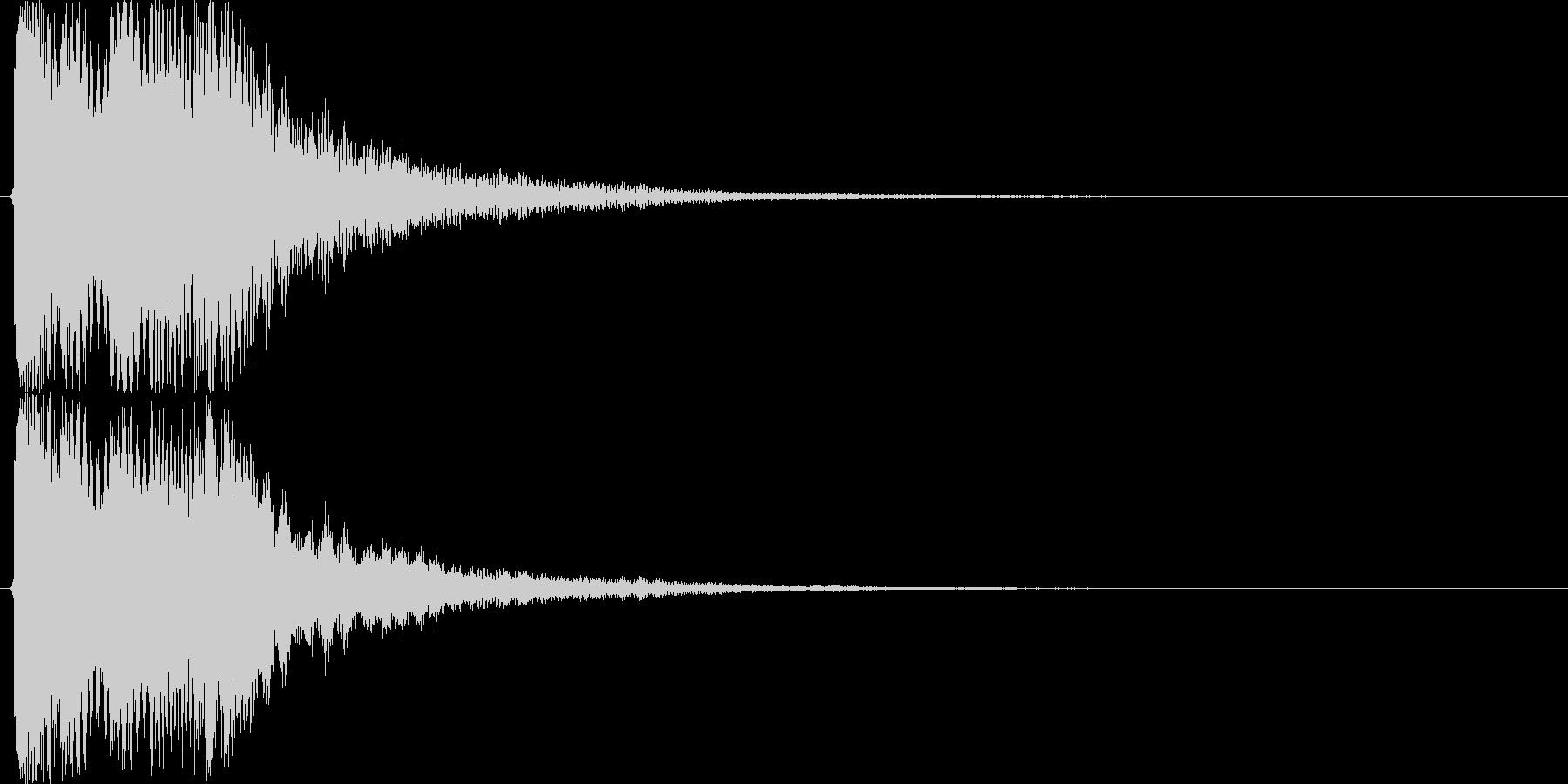 お正月・和風イメージボタン音(下降)の未再生の波形