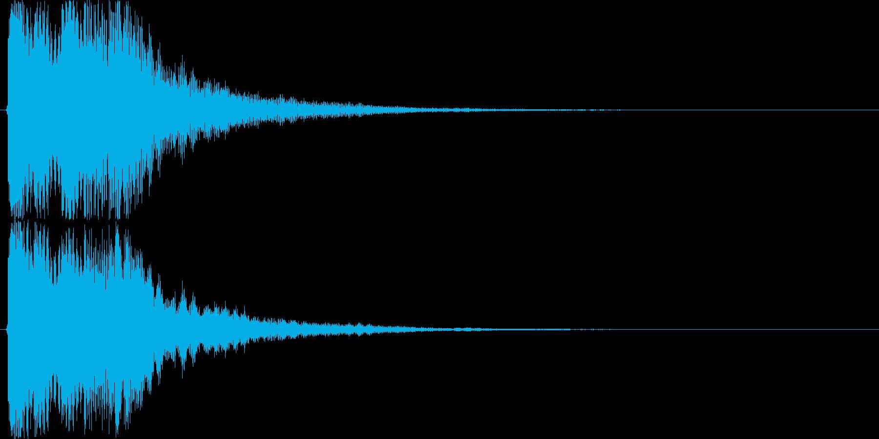 お正月・和風イメージボタン音(下降)の再生済みの波形