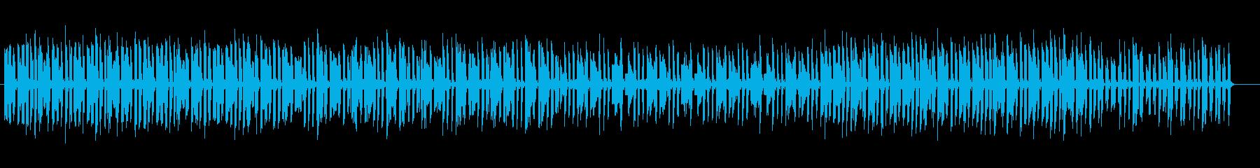 落ち着いた音のミュージックの再生済みの波形