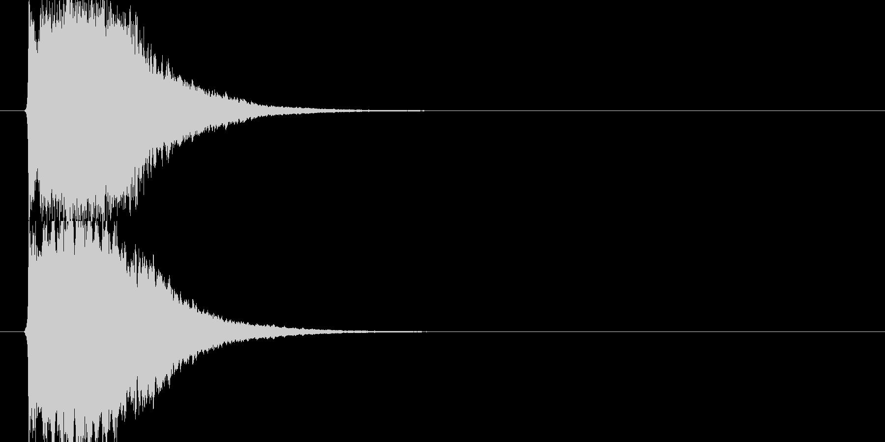 近未来SFボタン音ビープ音クリック音30の未再生の波形