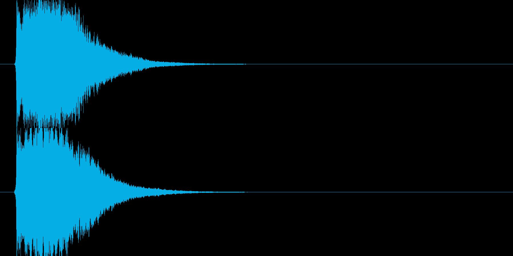 近未来SFボタン音ビープ音クリック音30の再生済みの波形