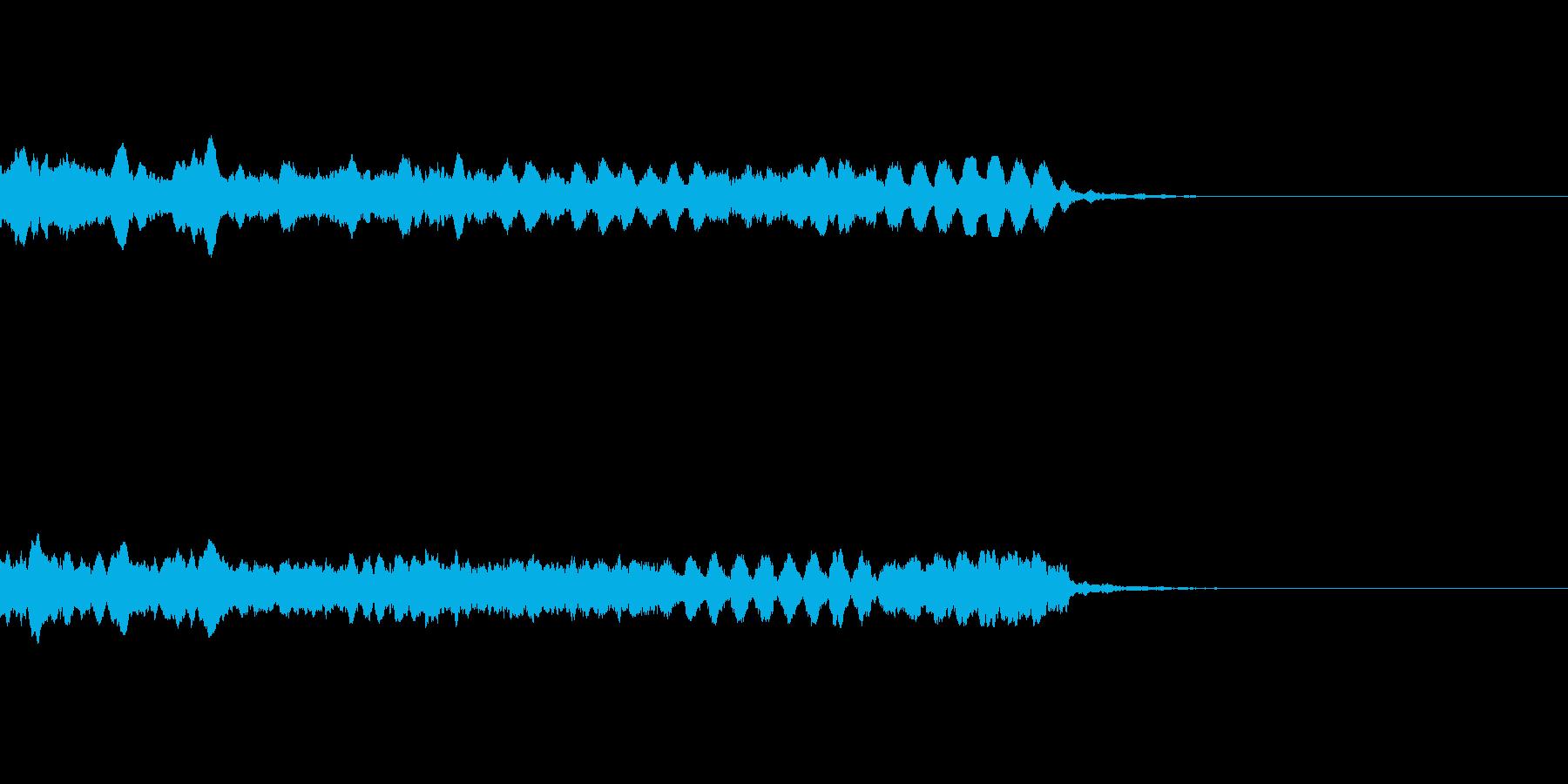 ダンスミュージックに合う上昇音の再生済みの波形