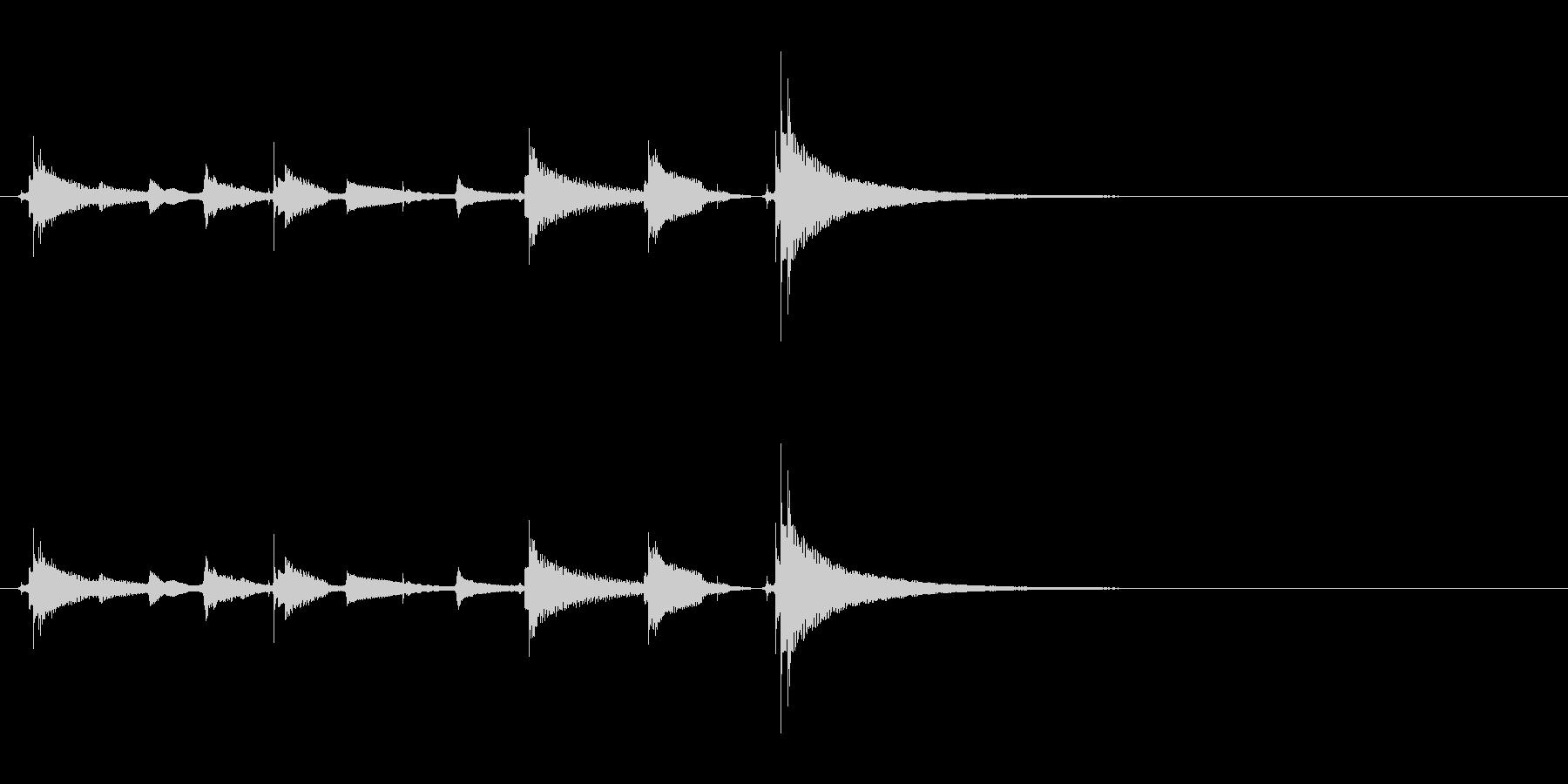 【生音】ウクレレでチャラチャラーチャラの未再生の波形