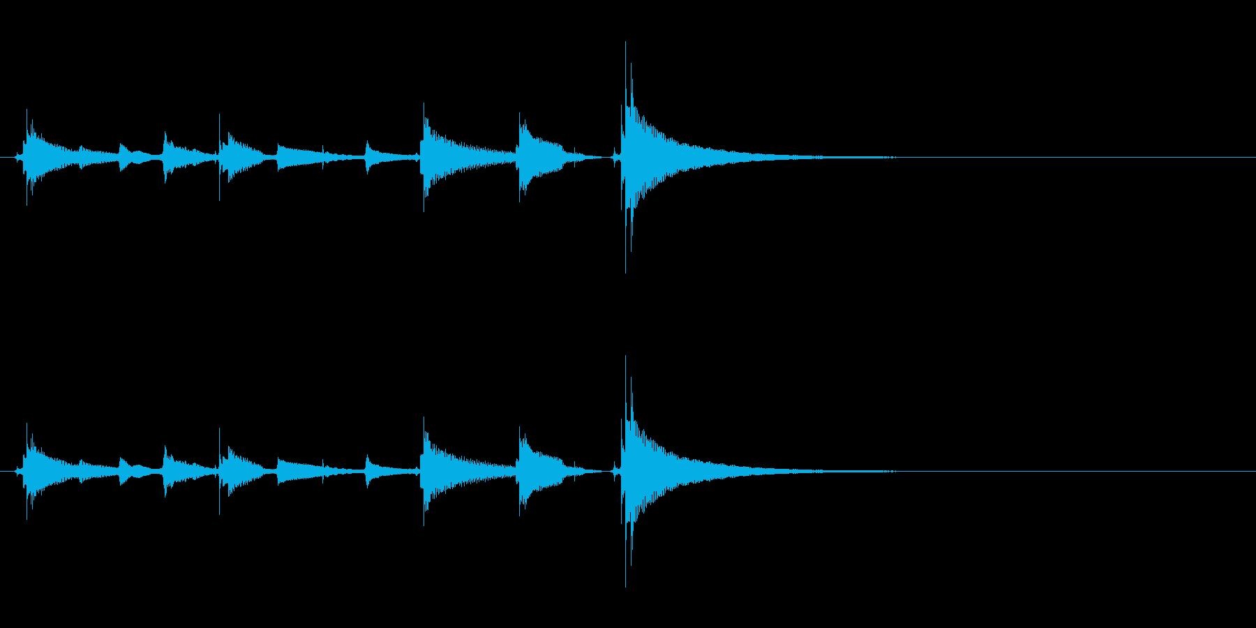 【生音】ウクレレでチャラチャラーチャラの再生済みの波形