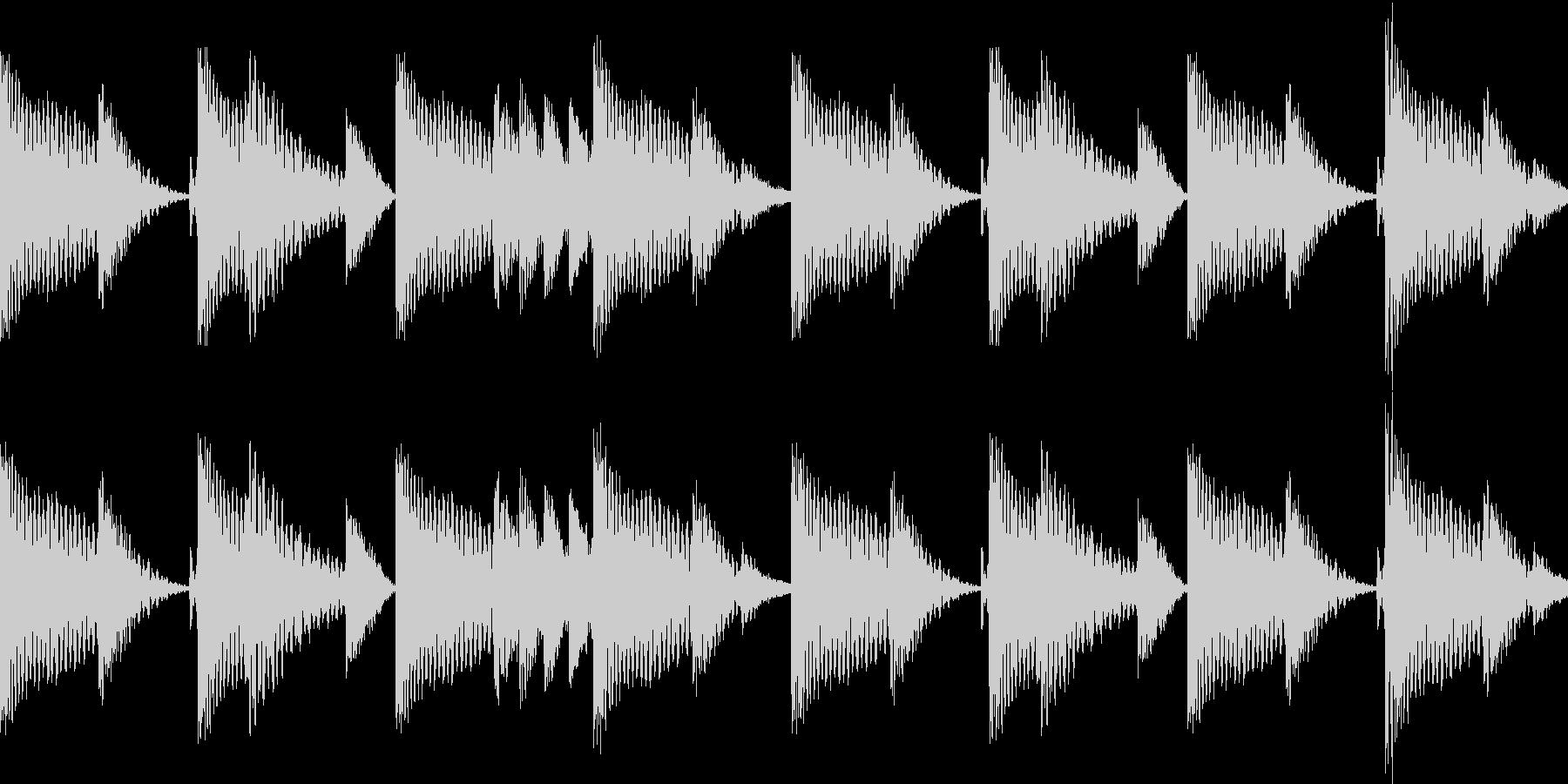 BPM128EDMリズムループ キーF#の未再生の波形