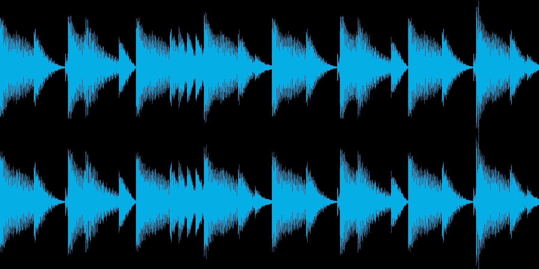 BPM128EDMリズムループ キーF#の再生済みの波形