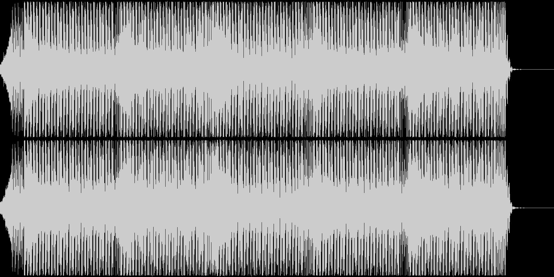 疾走感がありノリの良いテクノハウスBGMの未再生の波形