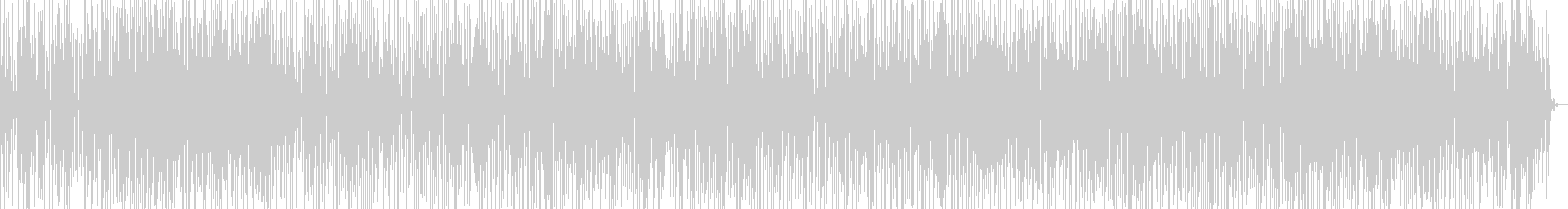 テクテク歩くイメージの楽曲の未再生の波形