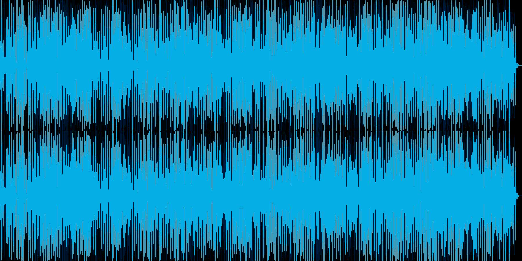 テクテク歩くイメージの楽曲の再生済みの波形