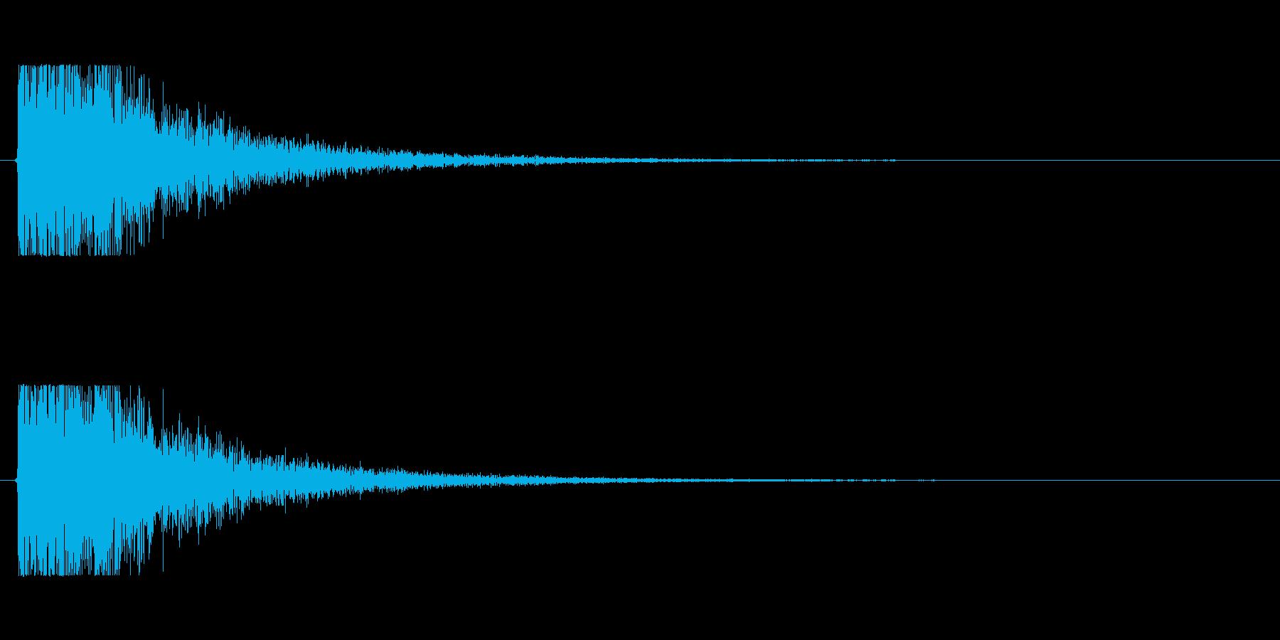 【大砲01-4】の再生済みの波形