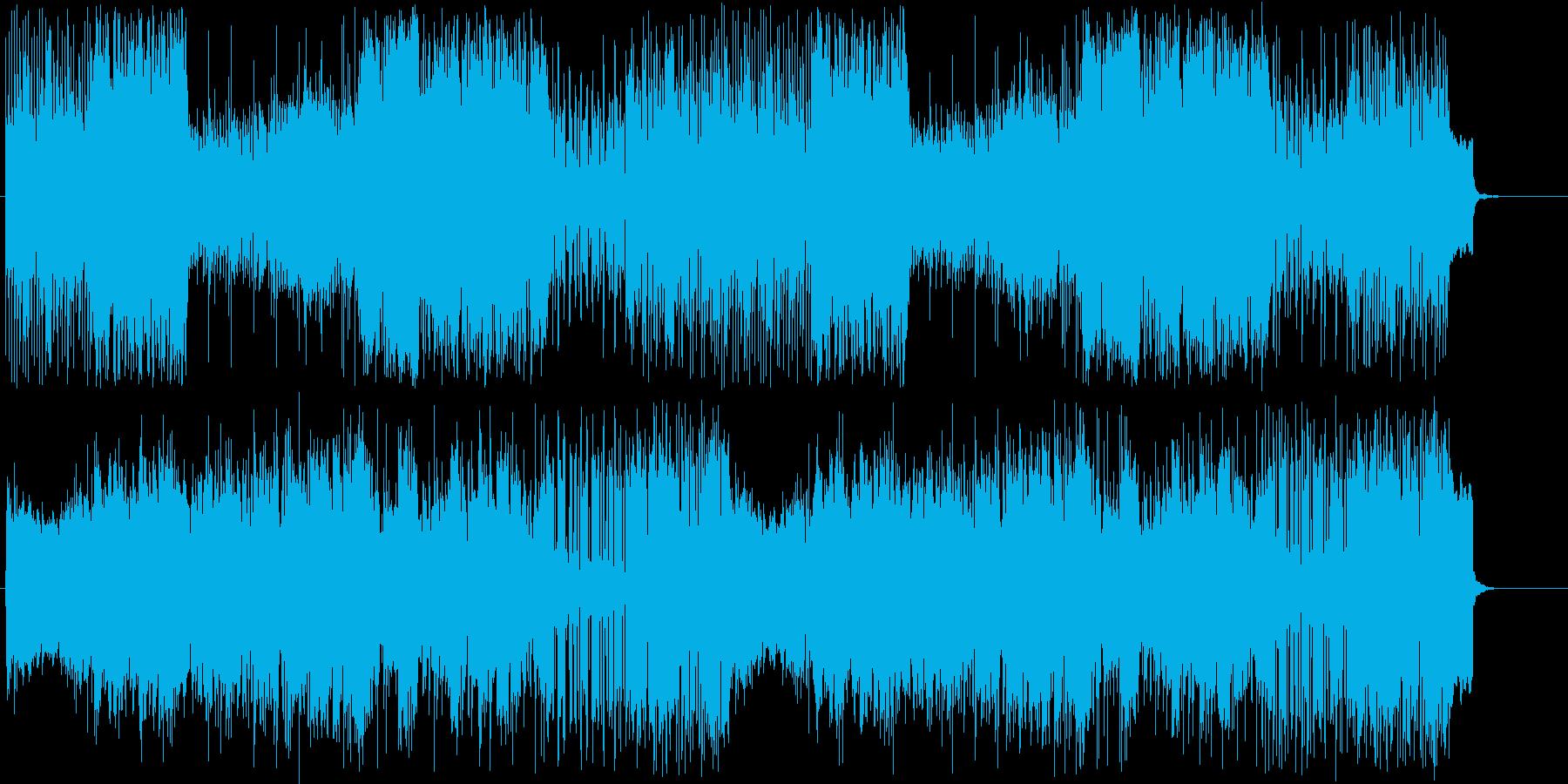 賑やかな民族音楽風の曲2の再生済みの波形
