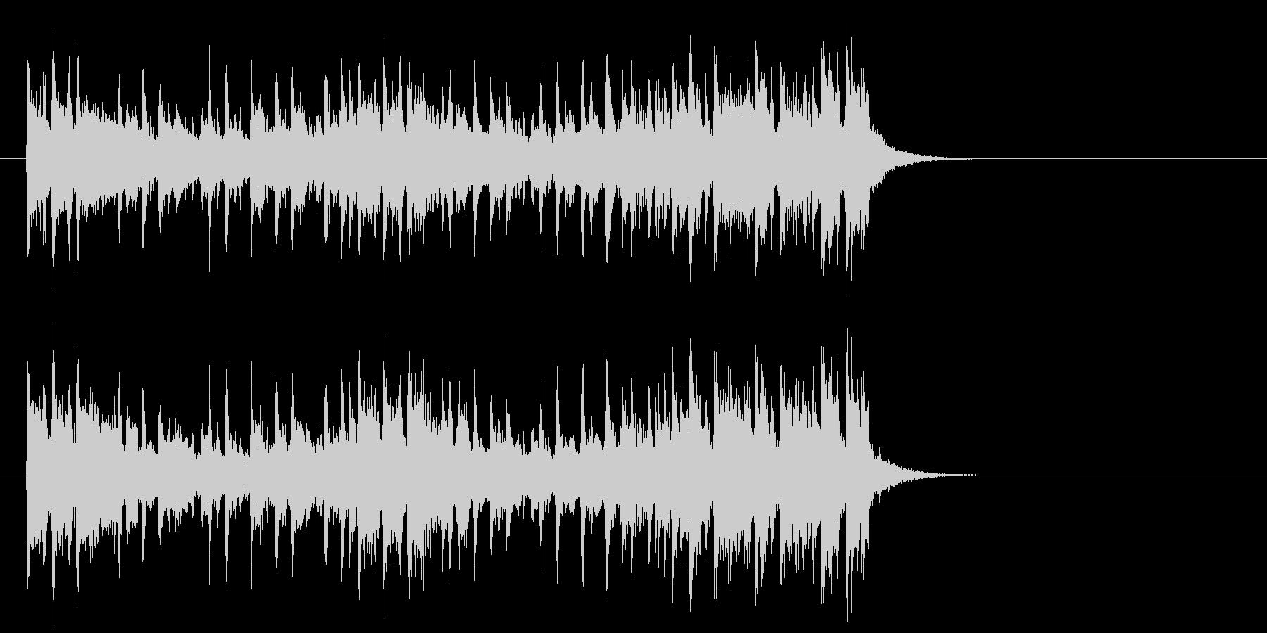 爽快なポップフュージョン(イントロ)の未再生の波形