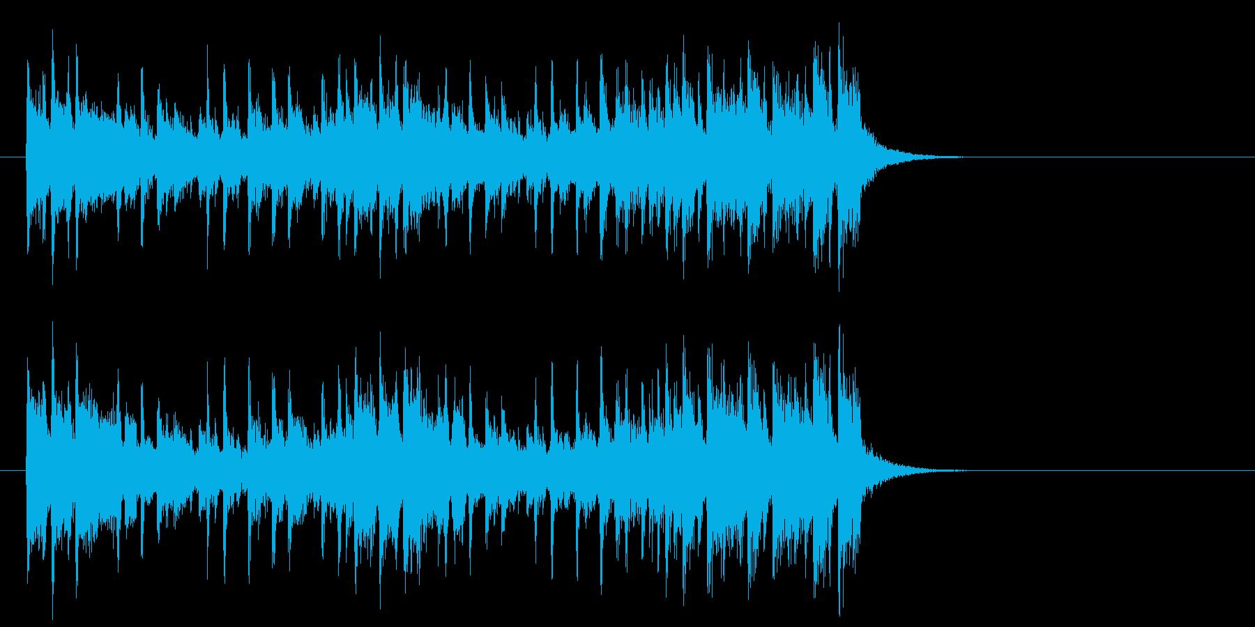 爽快なポップフュージョン(イントロ)の再生済みの波形