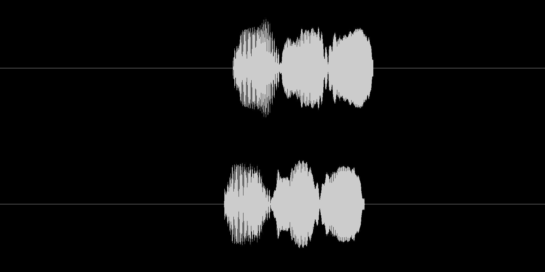 ピロー(叩いた音)の未再生の波形