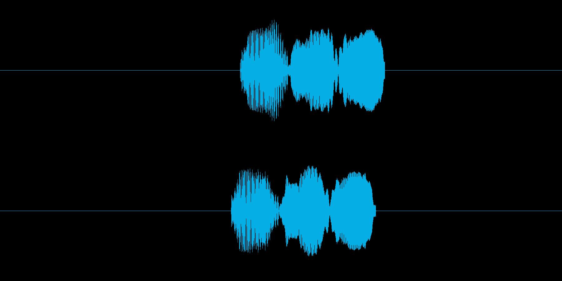 ピロー(叩いた音)の再生済みの波形