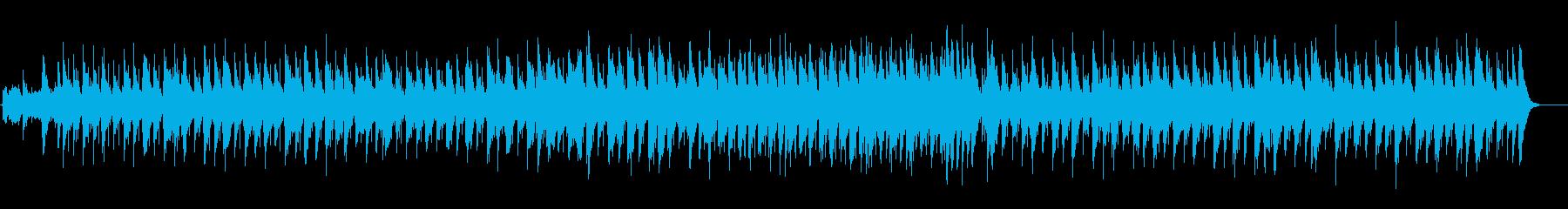 起伏を抑えたシンプルなアコースティックの再生済みの波形