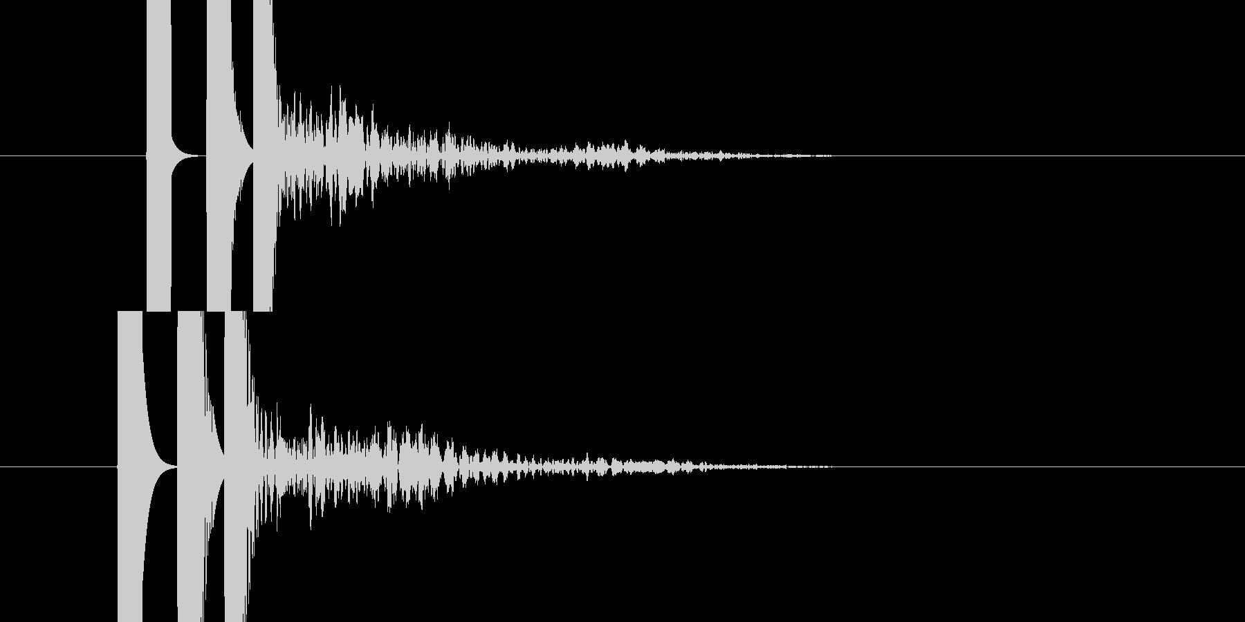 発射音的な効果音です。の未再生の波形