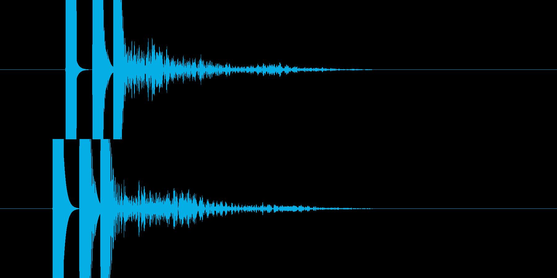 発射音的な効果音です。の再生済みの波形